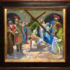 "American Legacy Fine Arts presents ""Study for the 7th Station; Jesus Falls the Second Time"" a painting by Peter Adams."