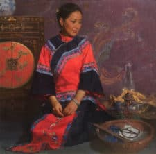 "American Legacy Fine Arts presents ""The Heiress's Closet"" a painting by Mian Situ."