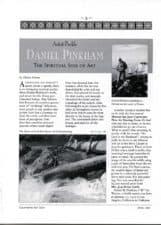 American Legacy Fine Arts presents Daniel W. Pinkham in California Art Club's Newsletter, April 1997.