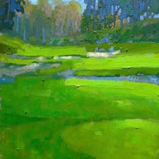 "American Legacy Fine Arts presents ""Serpentine View"" a painting by Peter Adams."