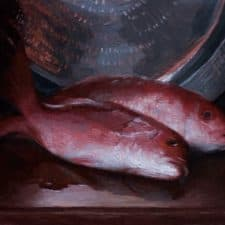 "American Legacy Fine Arts presents 'Red Snapper"" a painting by Adrian Gottlieb."