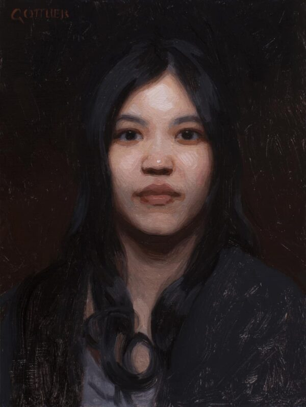 "American Legacy Fine Arts presents ""An Exotic Beauty"" a painting by Adrian Gottlieb."