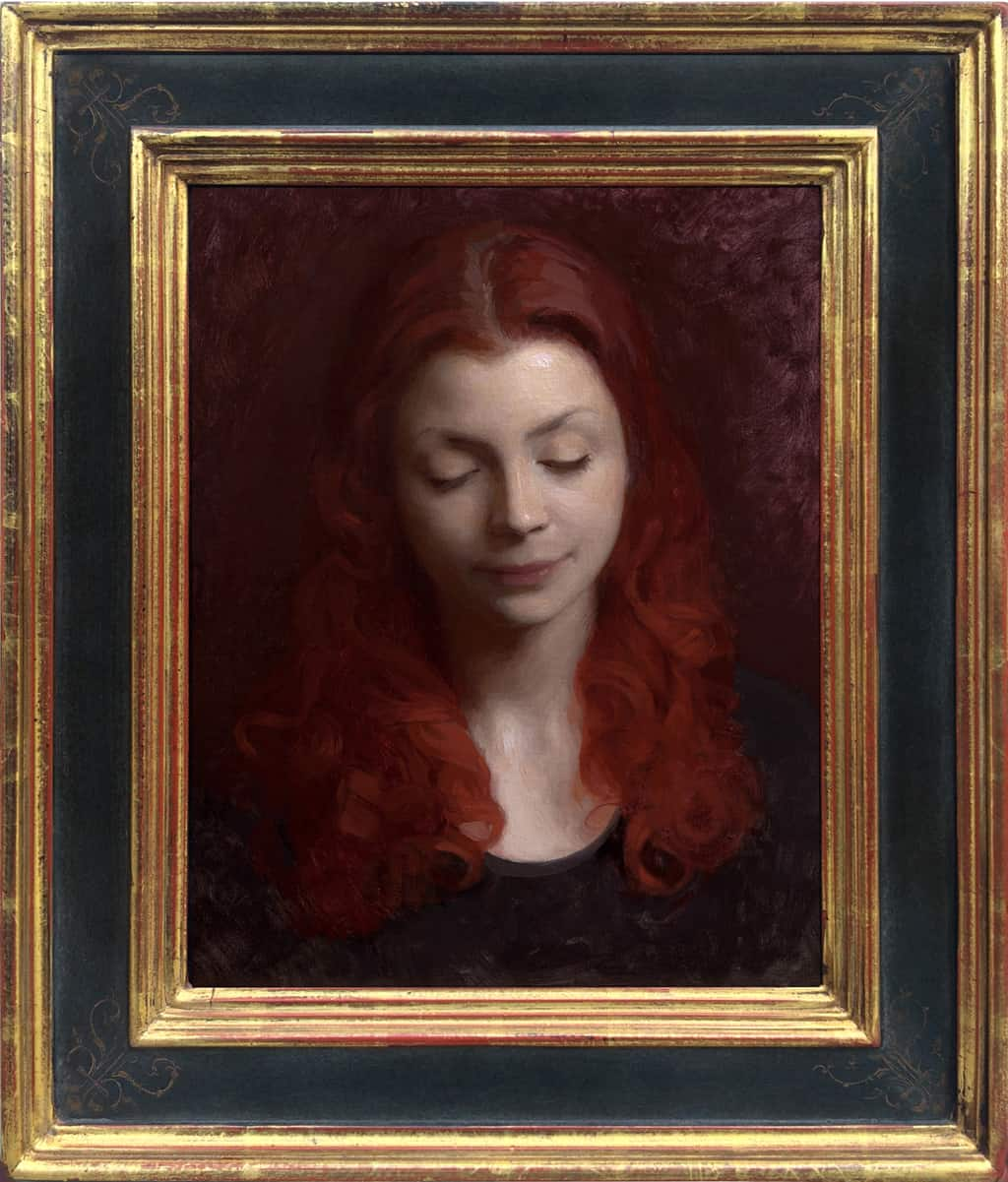 "American Legacy Fine Arts presents ""Crimson"" a painting by Adrian Gottlieb."