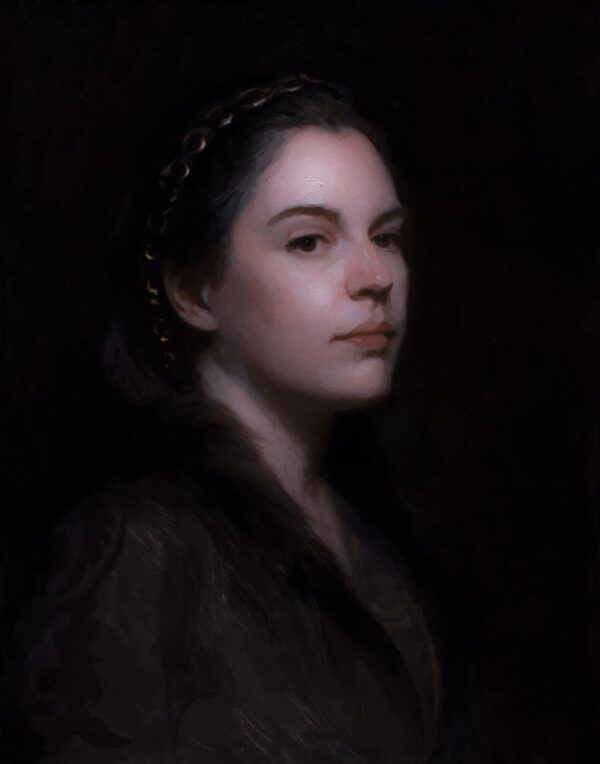 "American Legacy Fine Arts presents ""Découvert"" a painting by Adrian Gottlieb."