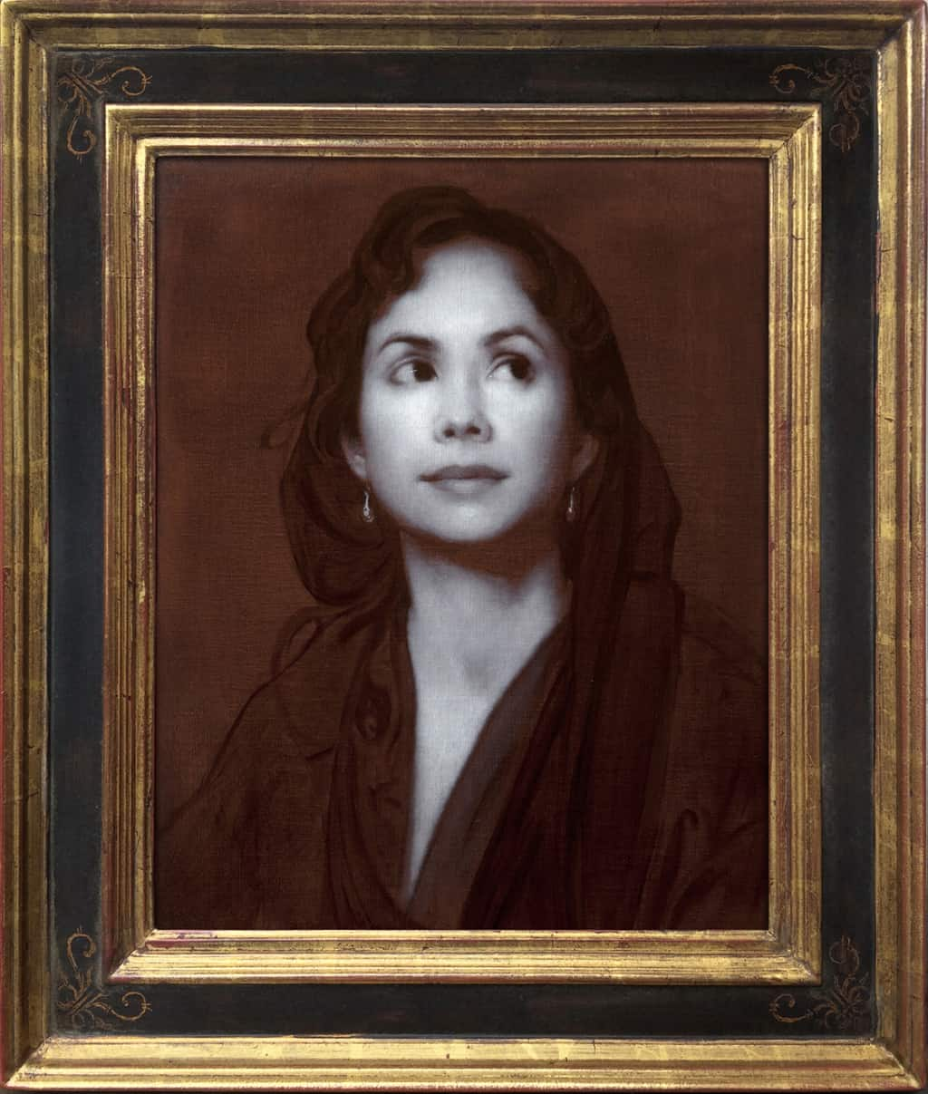 "American Legacy Fine Arts presents ""Elusive, A Work in Piambura"" a painting by Adrian Gottlieb."