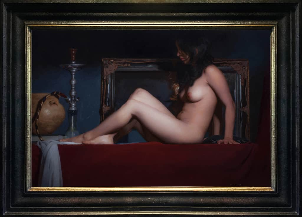 "American Legacy Fine Arts presents ""Pasithea"" a painting by Adrian Gottlieb."