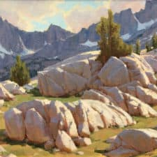 "American Legacy Fine Arts presents ""White Granite County"" a painting by Jean LeGassick."