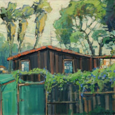 "American Legacy Fine Arts presents ""Morning Glories, Crystal Cove"" a painting by Karl Dempwolf."
