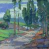 "American Legacy Fine Arts presents ""Pine Tree Road"" a painting by Karl Dempwolf."