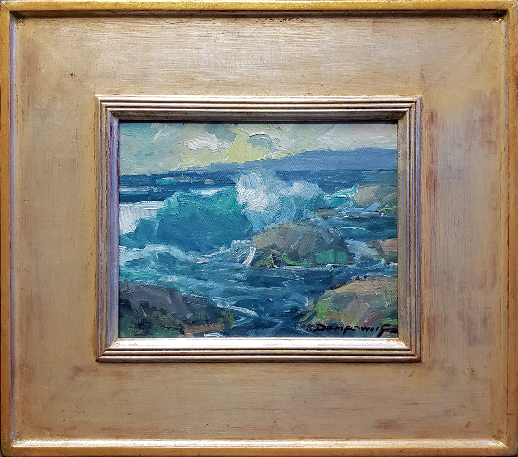 "American Legacy Fine Arts presents ""Shoreline, CA Redo"" a painting by Karl Dempwolf."
