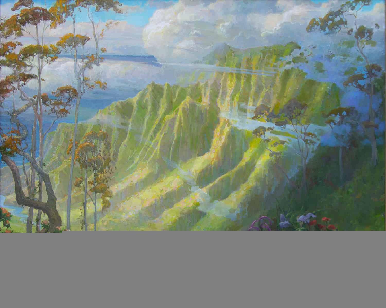 Mist Hawaii Kalalaua Pasadena Gallery Peter Adams Los