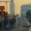 "American Legacy Fine Arts presents ""South on Hill"" a painting by Michael Obermeyer."