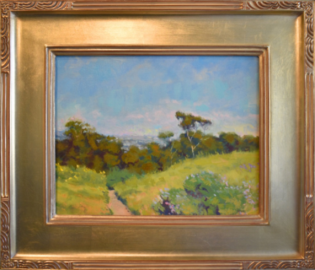 "American Legacy Fine Arts presents 'A Breezy Day on Chandler Preserve"" a painting by Richard Humphrey."