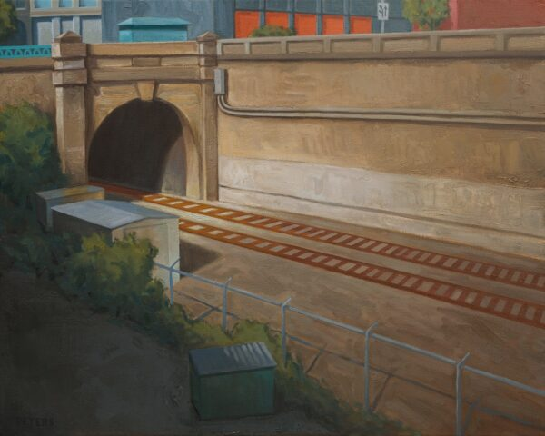 "American Legacy Fine Arts presents ""Tunnel"" a painting by Tony Peters."
