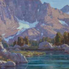 """American Legacy Fine Arts presents """"Mountain Glory"""" a painting by Jean LeGassick."""