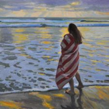 "American Legacy Fine Arts presents ""Waves of Thought"" a painting by Ray Roberts."