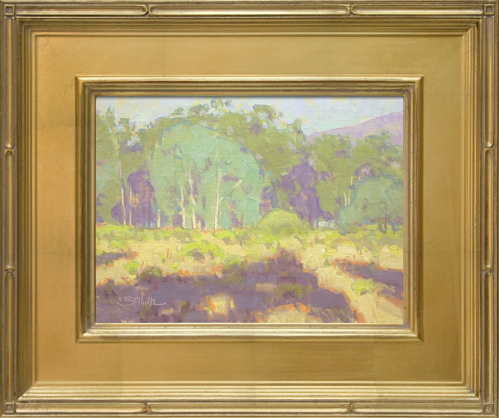 "American Legacy Fine Arts presents "" Sun Bleached; Ojai, California"" a painting by Dan Schultz"
