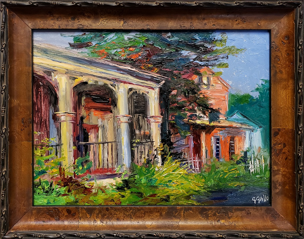 "American Legacy Fine Arts presents ""Pennsylvania Storefronts"" a painting by George Gallo."