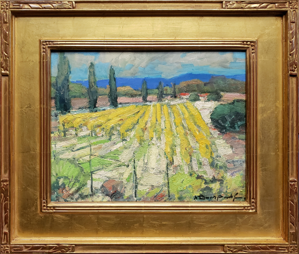 "American Legacy Fine Arts presents ""Paso Vines; Paso Robles, California"" a painting by Karl Dempwolf."