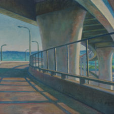 "American Legacy Fine Arts presents ""Night Bridge"" a painting by Tony Peters."