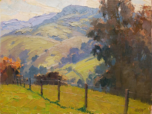 "American Legacy Fine Arts presents "" Early Spring"" a painting by Michael Obermeyer."