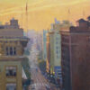 "American Legacy Fine Arts presents ""Seventh Street Sunrise; Los Angeles"" a painting by Michael Obermeyer."