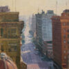 "American Legacy Fine Arts presents ""The Fashion District; Los Angeles"" a painting by Michael Obermeyer."