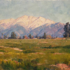 "American Legacy Fine Arts presents ""Winter Ranches"" a painting by Michael Obermeyer."