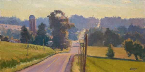 "American Legacy Fine Arts presents ""The Road Less Traveled; Door County, WI"" a painting by Michael Obermeyer."