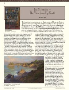 American Legacy Fine Arts presents Jim McVicker in Californi Art Club's Newsletter.