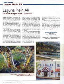 American Legacy Fine Arts presents Michael Obermeyer in Southwest Art Magazine October 2014.