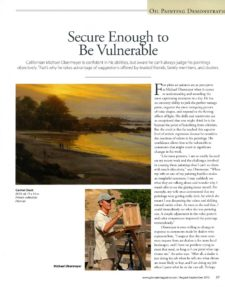 American Legacy Fine Arts presents Michael Obermeyer in Plein Air Magazine, Fall 2015.