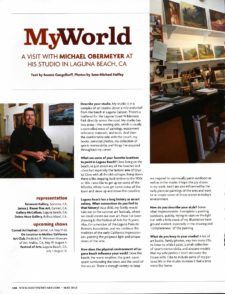 American Legacy Fine Arts presents Michael Obermeyer in Southwest Art Magazine.
