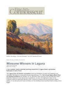 American Legacy Fine Arts presents Michael Obermeyer winning Fine Art Connoisseur Award October 2014