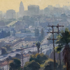 "American Legacy Fine Arts presents ""Top of the Park; Chavez Ravine, Los Angeles"" a painting by Michael Obermeyer."