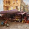 "American Legacy Fine Arts presents ""Market Day' a painting by Bryan Mark Taylor."