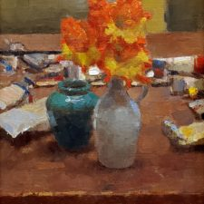 "American Legacy Fine Arts presents ""Yelow, Red and Blue"" a painting by Jim McVicker."