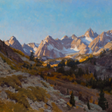 """American Legacy Fine Arts presents """"Morning Sabrina Basin"""" a painting by Joseph Paquet."""
