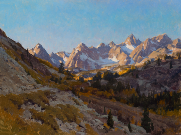 "American Legacy Fine Arts presents ""Morning Sabrina Basin"" a painting by Joseph Paquet."