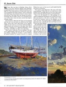American Legacy Fine Arts presents W. Jason Situ featured in Art of the West Magazine, March/April 2019 Issue.