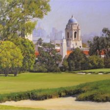 "American Legacy Fine Arts presents ""View from the 18th Green"" a painting by Alexander V. Orlov."