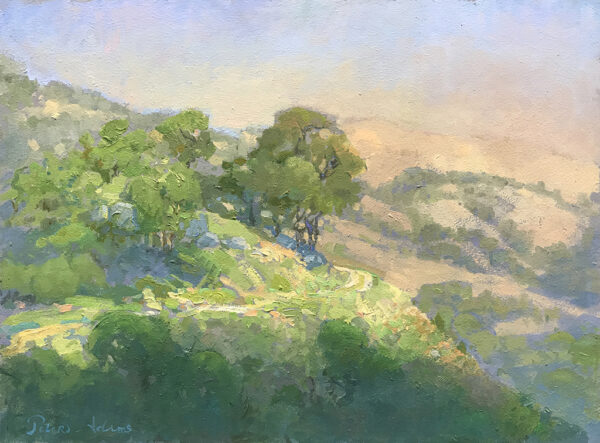 "American Legacy Fine Arts presents ""A Road Less Travelled, Tejon Ranch"" a painting by Peter Adams."