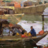 "American Legacy Fine Arts presents ""Boats of Kaiping"" a painting by Aimee Erickson."