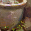 "American Legacy Fine Arts presents ""China Pots & Rubble"" a painting by Aimee Erickson."
