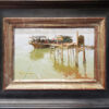 "American Legacy Fine Arts presents ""At the Dock"" a painting by Albin Veselka."