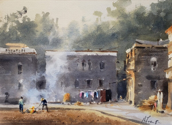 "American Legacy Fine Arts presents ""Afternoon Burn"" a painting by Andy Evansen."