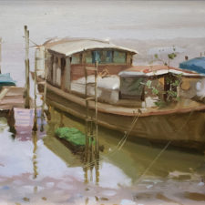 "American Legacy Fine Arts presents ""Living Boat"" a painting by Eric F. Guan."