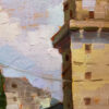 "American Legacy Fine Arts presents ""Old Building; Guangdong, China"" a painting by Hai-Ou Hou."