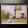 """American Legacy Fine Arts presents """"Old Building; Guangdong, China"""" a painting by Hai-Ou Hou."""