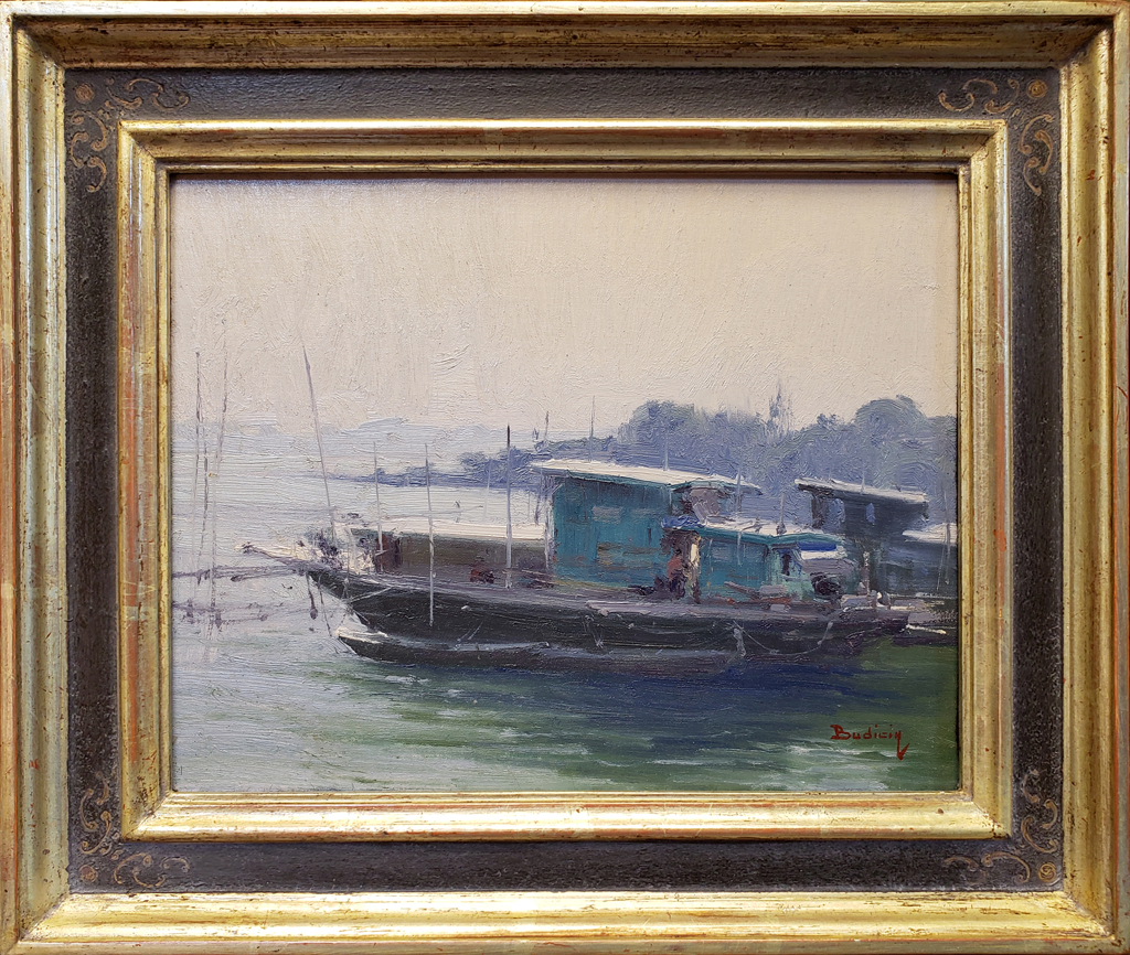 "American Legacy Fine Arts presents ""Life On The River"" a painting by John Budicin."